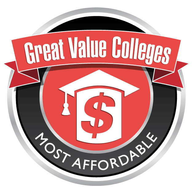 Great Value Colleges Most Affordable Badge